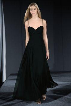 55234b902a A-line Sweetheart Floor-length Black Chiffon Bridesmaid Dress BD007