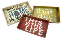 Morris Home Happy and Life Trays