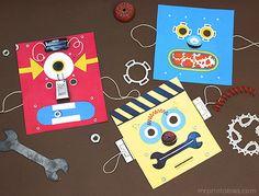 printable robot masks