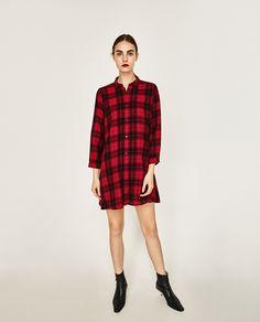 ZARA - SALE - SHORT CHECK DRESS