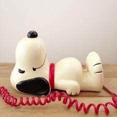 A snoopy phone makes it worth having a landline. | denisetakespics.tumblr.com