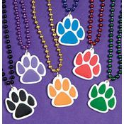 Paw Print Beaded Necklace