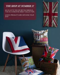 Check out these british pillows! New shop in London opening with everything having a British bent, so look at these pillows! Fun!