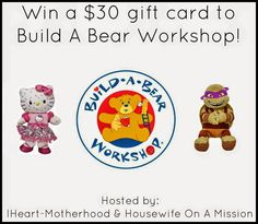 IHeart-Motherhood: Build A Bear Workshop Review and Giveaway #FourIAdore