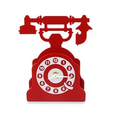 Relógio de Mesa Telefone Retro