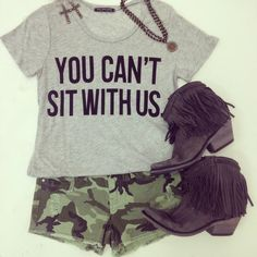 You Can't Sit With Us Tee - Southern Jewlz Online Store