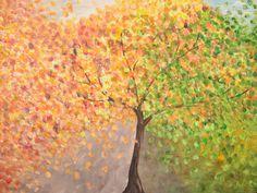 HerbstPoesie - Es wird Herbst  Ein neuer Blickfang, gemalt für die *2. Aktion des Team KunstRaub zum Thema 'Bunt sind schon die Wälder' - HerbstPo...