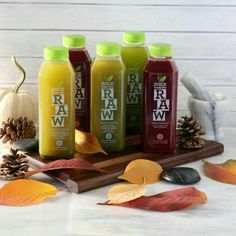 Our Raw juices have all the vitamins and nutrients to keep healthy in these upcoming winter days.