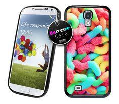 Sweet Gummy Worms Candy Samsung Galaxy S4 Case Hard Plastic
