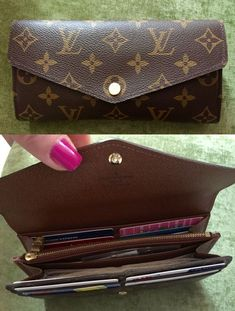 Louis Vuitton Sarah Wallet, newer style, monogram. LOVE this roomy wallet. Great…: Louis Vuitton keeps on inventing itself and is. Louis Vuitton Sarah Wallet, Louis Vuitton Backpack, Vuitton Bag, Louis Vuitton Nails, Louis Vuitton Monogram, Gucci Handbags, Louis Vuitton Handbags, Tote Handbags, Vintage Louis Vuitton
