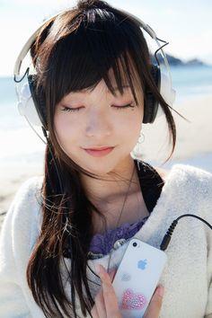 Headphones Girl #headphones