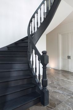 Black Painted Staircase And Trim