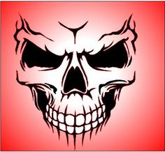 Gallery For > Airbrush Stencils Skulls                                                                                                                                                                                 Mais