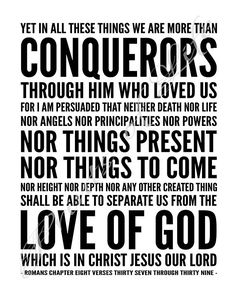 Bible Verse Art, Scripture Cards, Scripture Quotes, Jesus Scriptures, Powerful Scriptures, More Than Conquerors, Romans 8 37, Praying For Others, Christian Wall Art