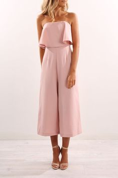 41 Simply Chic Fall Wedding Guest Outfits For Ladies Ideas Hochzeitsgast Outfit rosa Overall Jumpsuit For Wedding Guest, Best Wedding Guest Dresses, Wedding Guest Outfit Formal, Wedding Guest Fashion, Summer Wedding Outfits, Trendy Wedding, Summer Wedding Guests, Outfit Summer, Wedding Outfits For Guests
