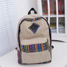 Women Canvas Backpack Satchel Rucksack Shoulder Bag Travel School Book Bag Top Quality Free Shipping P109 mochila bolsas