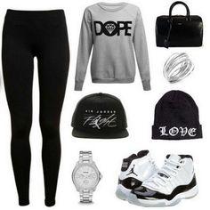 ladies jordan outfits