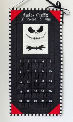 tnbcadventcalendar1 Halloween Town, Holidays Halloween, Halloween Crafts, Christmas Crafts, Halloween Decorations, Christmas Stuff, Christmas Ideas, Christmas Countdown Calendar, Halloween Countdown
