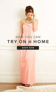 Seeing is believing! Weddington Way's Try-On @ Home program lets you sample your favorite frocks in the comfort of your own home. Sign up for Weddington Way to shop 1000+ styles & try on your favs :)