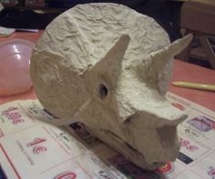 One of my daughter was studying dinosaurs and ... I thought to build a skull…