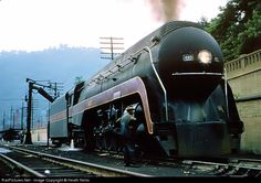 The Crew looks over J Class 603 as it's being serviced in Williamson, WV Yard....