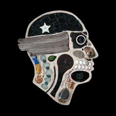 Medical Diagram Portraits Created from Found Objects by Edwige Massart and Xavier Wynn surreal sculpture portraits anatomy