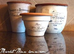 Make French styled pots with this tutorial and 45 other craft tutorials - Click image to find more diy & crafts Pinterest pins