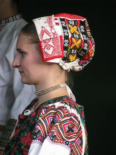 Horehronie region, Central Slovakia. Bridal Headdress, Costumes Around The World, Europe, Folk Embroidery, Beautiful Costumes, Folk Fashion, Medieval Clothing, Folk Costume, World Cultures
