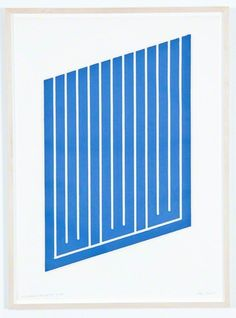 Donald Judd - Untitled (11-L), 1961-69, woodcut in cerulean blue on catridge paper