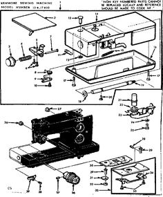 Kenmore 158.19410 Sewing Machine Instruction Manual