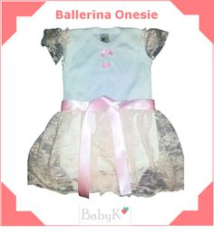 For the girly girl! A Ballerina Onesie from BabyK. Skirts can be made in various colours. Cute Little Baby, Little Babies, Girly Girl, Ballerina, Custom Made, Onesies, Colours, Skirts, How To Make