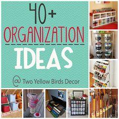 Two Yellow Birds Decor: {Organize Your Home} Round-Up #organize