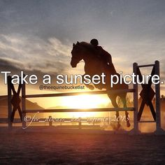Take a sunset picture
