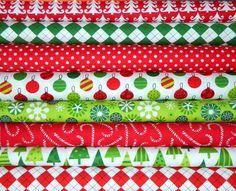 Michael Miller & Robert Kaufman Christmas Fat Quarter Bundle. $22.00, via Etsy.