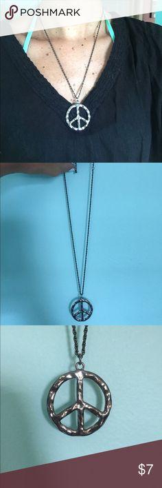 Peace sign necklace Silver peace sign necklace. Jewelry Necklaces