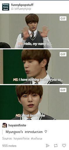 Myungsoo's introduction