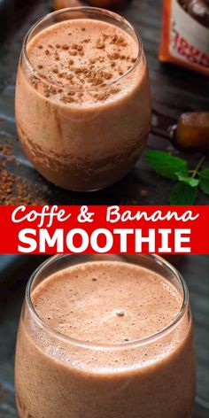 Rich, chocolaty and frothy, this Coffee Banana Smoothie makes a perfect breakfast or afternoon treat. This is one of the best smoothie recipes out there! Coffee Banana Smoothie, Banana Coffee, Coffee Breakfast Smoothie, Breakfast Smoothie Recipes, Healthy Coffee Smoothie, Healthy Iced Coffee, Homemade Iced Coffee, Chocolate Smoothie Recipes, Chocolate Banana Smoothie