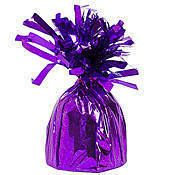 Purple Foil Balloon Weights will keep your balloons grounded. These 4 inch by 2 inch balloon weights are available in a package of six. Purple Balloons, Mylar Balloons, Latex Balloons, 80th Birthday Invitations, Purple Candy, Balloon Weights, Halloween Bags, Event Themes, Vinyl Banners