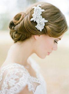 VERONA rhinestone bridal comb in silver