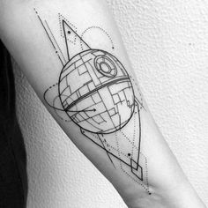 Death Star for Signý to commemorate her time working on episode VIII! - Star Wars Death Star - Ideas of Star Wars Death Star - Death Star for Signý to commemorate her time working on episode VIII! Death Star Tattoo, Tatoo Star, Star Wars Tattoo, Arrow Tattoos, Star Tattoos, Forearm Tattoos, Sleeve Tattoos, Urban Tattoos, Trendy Tattoos