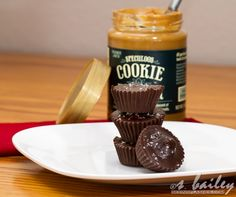 Dark Chocolate Biscoff Butter Cups Aka Cookie Butter Cups Recipe ...