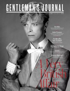 """meemalee: """"David Bowie on the cover of """"Gentleman's Journal"""", February 2017. """""""