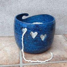 Yarn bowl ....knitting or crochet....hand thrown pottery