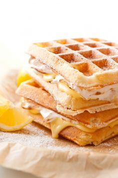 Lemon Meringue Pie Stuffed Waffles - Cooking Classy