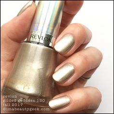 Revlon Gilded Goddess 130 Revlon Nail Polish, Gold Nail Polish, Revlon Color, Nail Polish Collection, Nail Care, Nail Colors, Beauty Makeup, Nail Designs, Nails