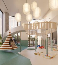 LEGO Walls, Robot Classes, Splash Rooms: The Latest Luxury Amenities Get Creative For The Kids - Bia Nishi Arquitetura Comercial - Beyond Binary Playroom Design, Kids Room Design, Daycare Design, Playroom Rug, Playroom Furniture, Playroom Organization, Playroom Ideas, Bedroom Furniture, Furniture Design