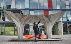 Gallery of Origami Pavilion Creates Shelter with 8 Folded Aluminum Sheets - 3