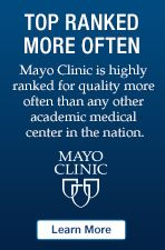 Top ranked more often. Mayo Clinic is top ranked for quality more often than any other hospital in the nation.
