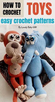 Crochet Deer, Crochet For Boys, Cute Crochet, Crochet Animals, Crochet Baby, Crochet Pillow, Knitting Dolls Free Patterns, Knitted Dolls Free, Easy Crochet Patterns