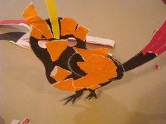 Warsztaty terapii ręki. TURKOT - Poradnia Logopedyczna  dr Stecko. Ptak wydzierankowy Franka.